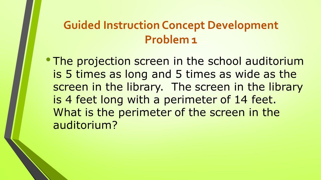 Guided Instruction Concept Development Problem 1 Solution