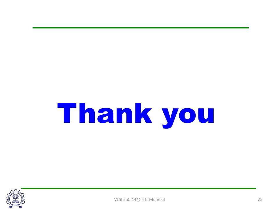 VLSI-SoC 14@IITB-Mumbai25 Thank you