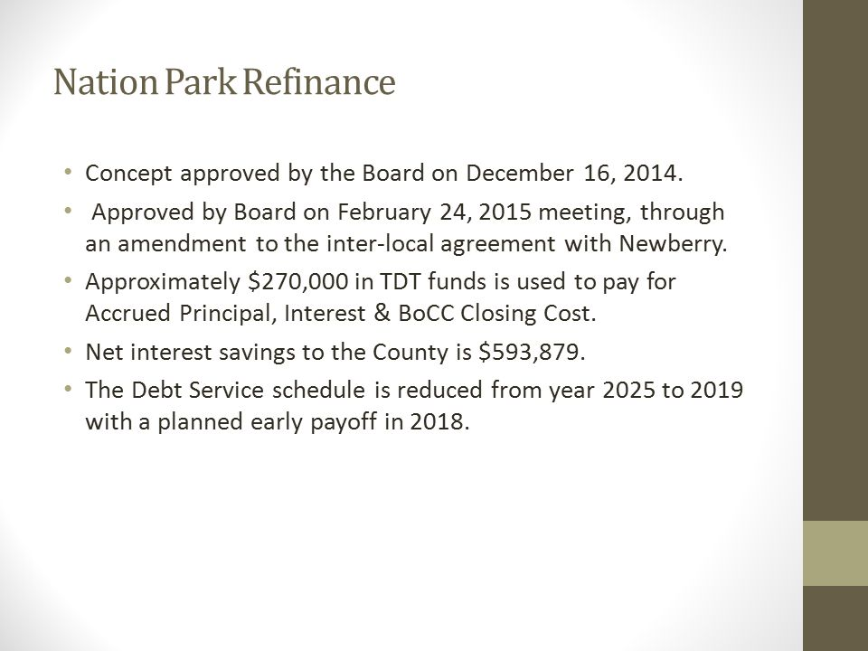 Auditorium Renovation Board approved in December 2014 to move forward.