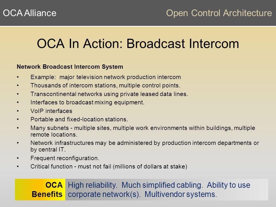 OCA AllianceOpen Control Architecture www.oca-alliance.com