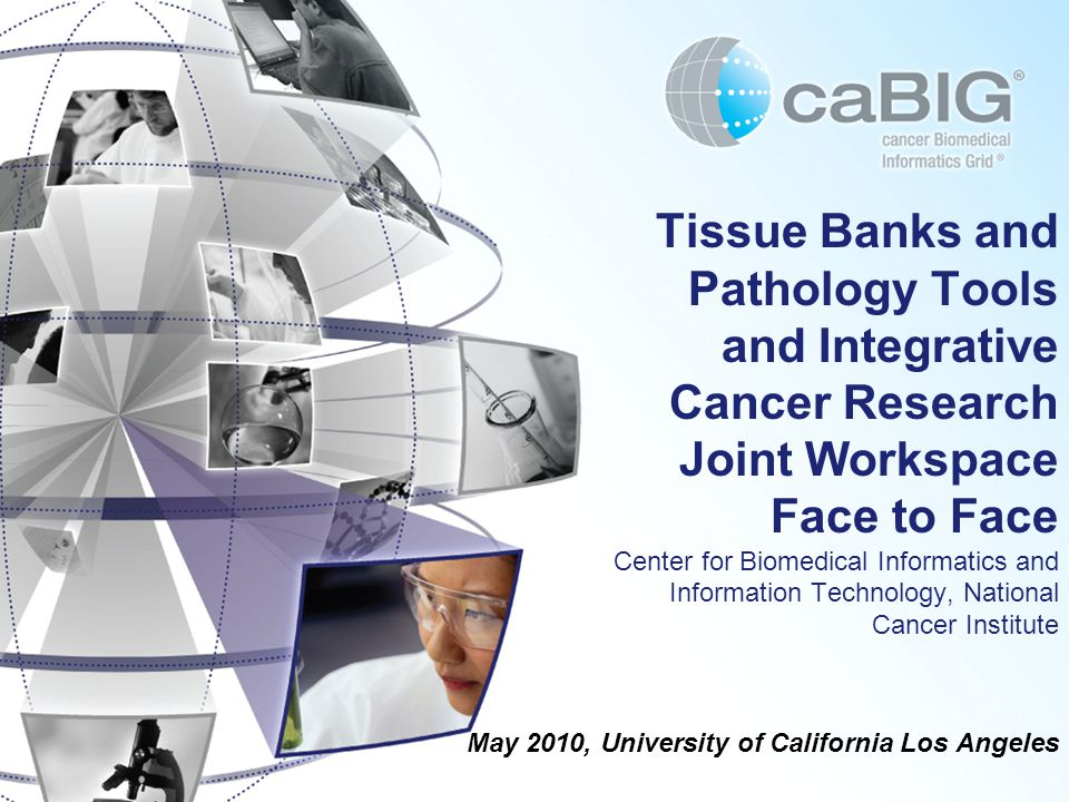 May 2010, University of California Los Angeles Tissue Banks and Pathology Tools and Integrative Cancer Research Joint Workspace Face to Face Center for Biomedical Informatics and Information Technology, National Cancer Institute