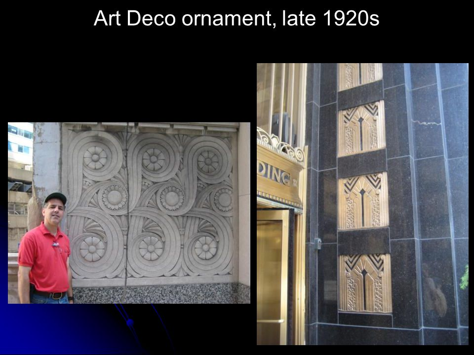 Art Deco ornament, late 1920s