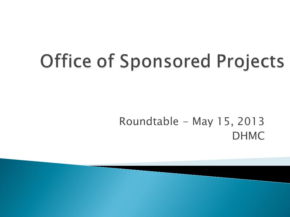 Roundtable - May 15, 2013 DHMC