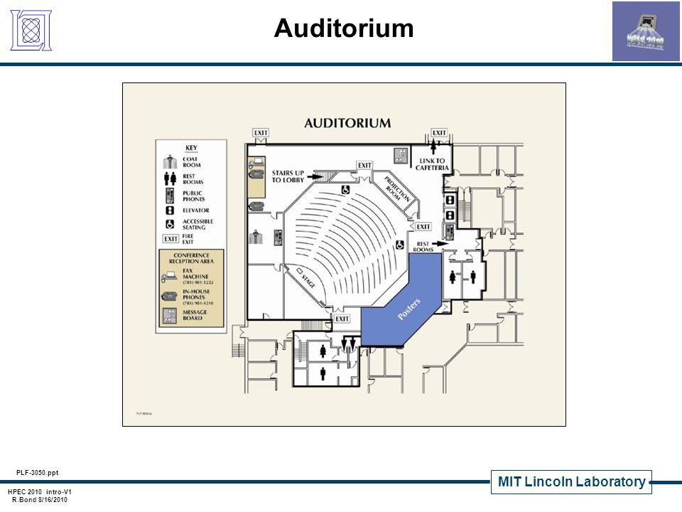MIT Lincoln Laboratory HPEC 2010 intro-V1 R.Bond 8/16/2010 Unescorted Area Lincoln Laboratory is a secure facility.