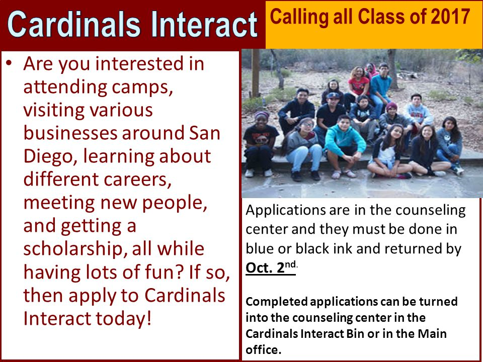 Are you interested in attending camps, visiting various businesses around San Diego, learning about different careers, meeting new people, and getting a scholarship, all while having lots of fun.