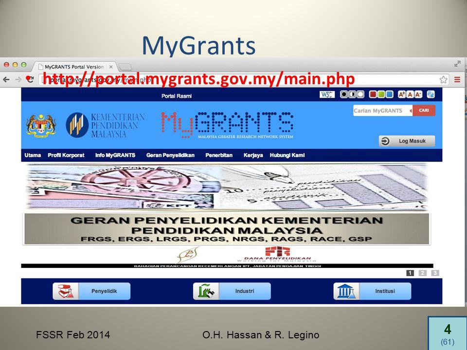 4 (61) FSSR Feb 2014O.H. Hassan & R. Legino MyGrants http://portal.mygrants.gov.my/main.php