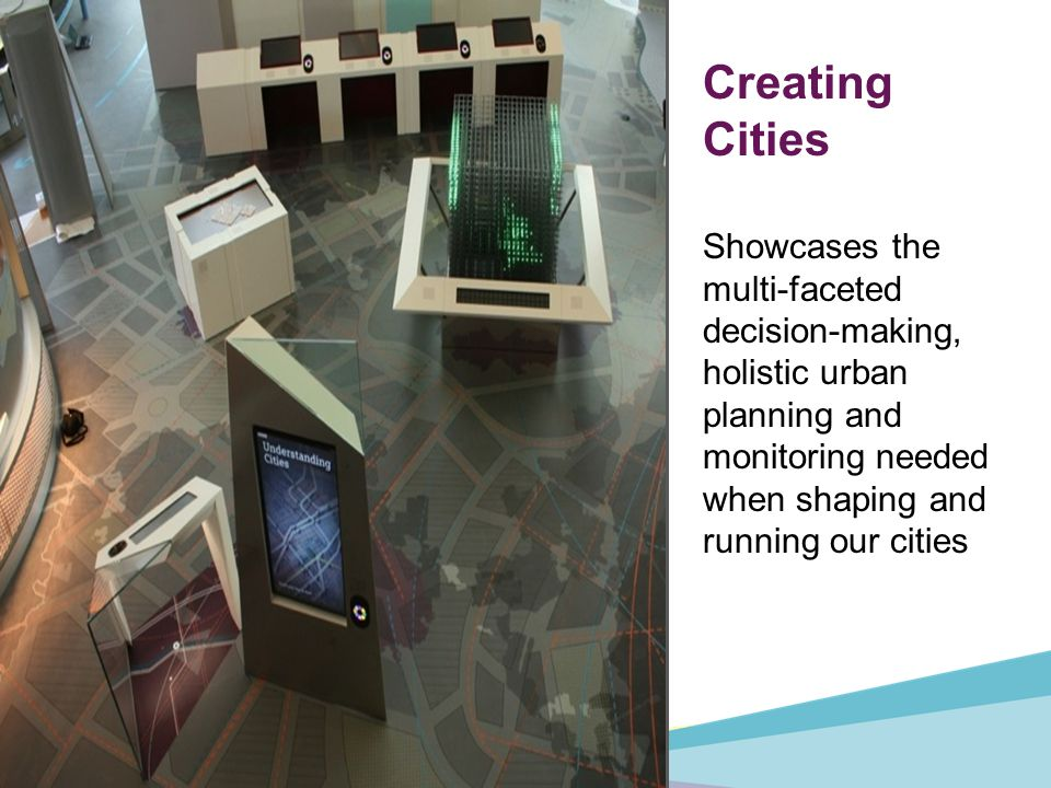 Creating Cities Showcases the multi-faceted decision-making, holistic urban planning and monitoring needed when shaping and running our cities