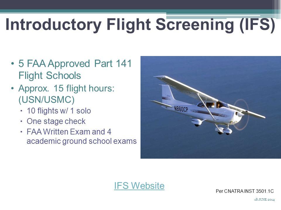 Introductory Flight Screening (IFS) 5 FAA Approved Part 141 Flight Schools Approx.