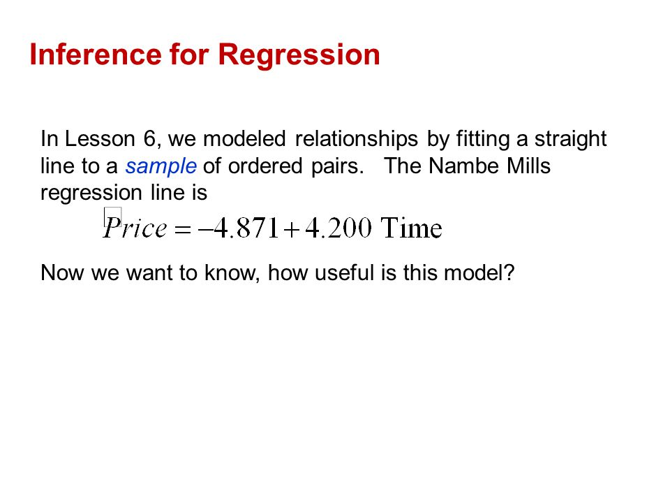 16.1 The Population and the Sample The Nambe Mills sample is based on 59 observations.