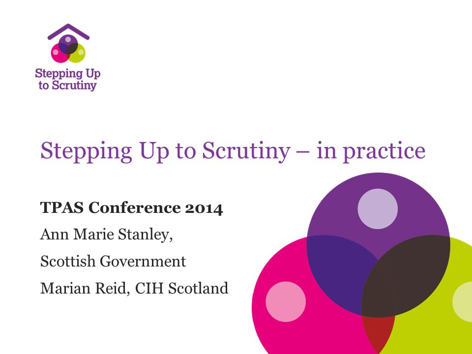 Setting the Scene Housing (Scotland) Act 2001 – Statutory requirement for tenant participation strategies – Rights to be consulted on key areas of service and standards of service Housing (Scotland) Act 2010 – Scottish Social Housing Charter – Standards and outcomes – Self-assessment by landlords – Annual Return on the Charter (plus Annual Report) – Role of Scottish Housing Regulator (SHR)