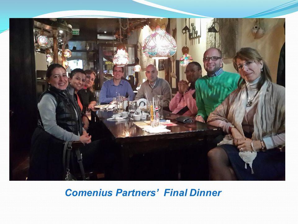Comenius Partners' Final Dinner