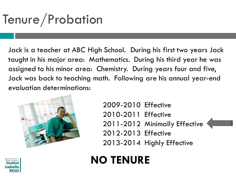 Tenure/Probation Jack is a teacher at ABC High School.