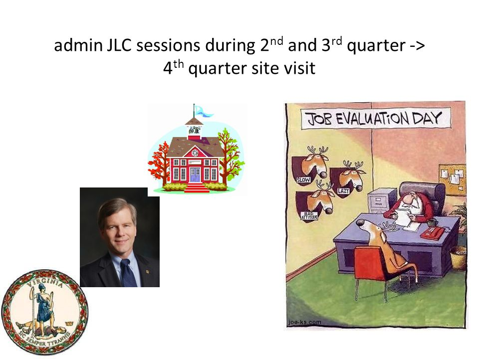 admin JLC sessions during 2 nd and 3 rd quarter -> 4 th quarter site visit
