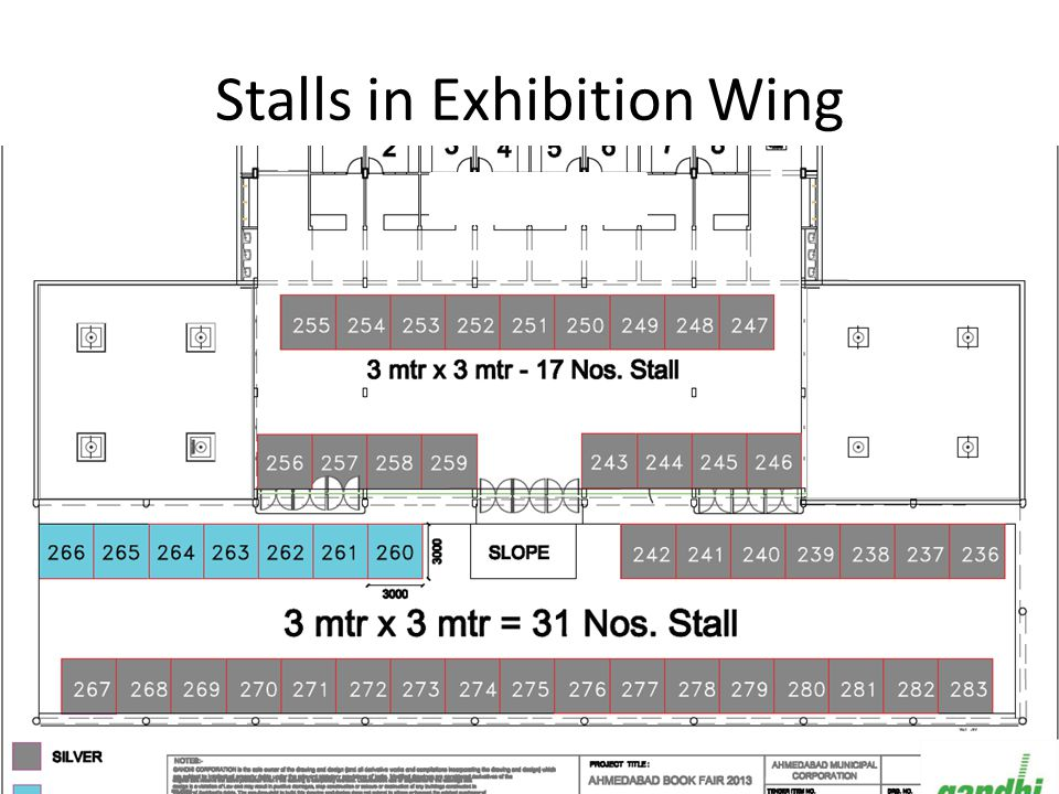 Stalls in Main Exhibition Hall