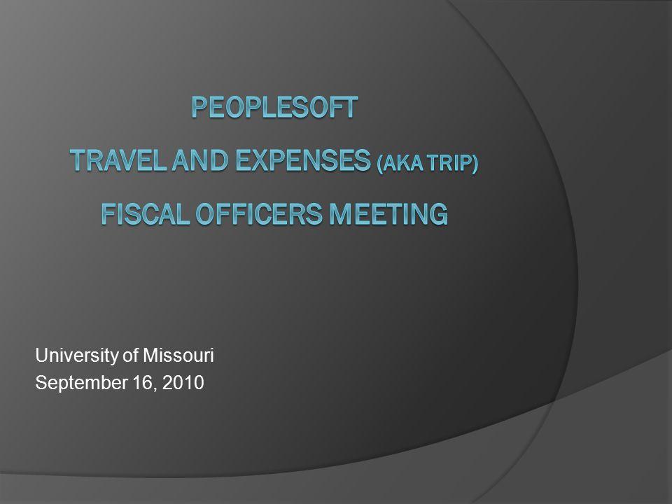 University of Missouri September 16, 2010