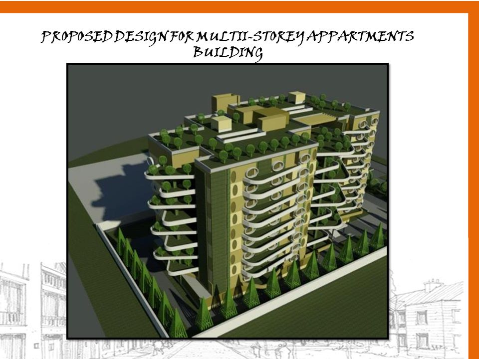PROPOSED DESIGN FOR MULTII-STOREY APPARTMENTS BUILDING