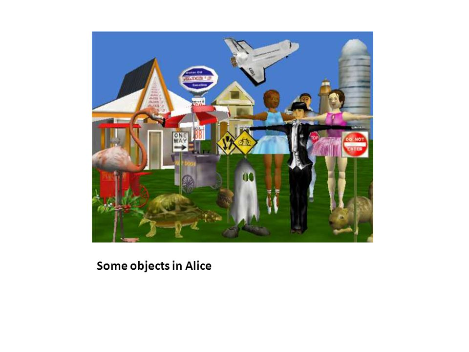Some objects in Alice