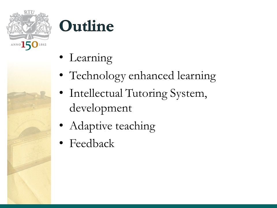 Learning Technology enhanced learning Intellectual Tutoring System, development Adaptive teaching Feedback