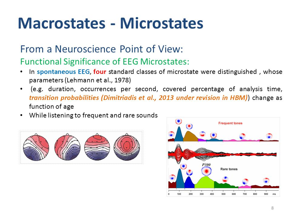 Macrostates - Microstates 9 From a Neuroscience Point of View: Can you give an exemplar of Macrostate related to brain functionality .