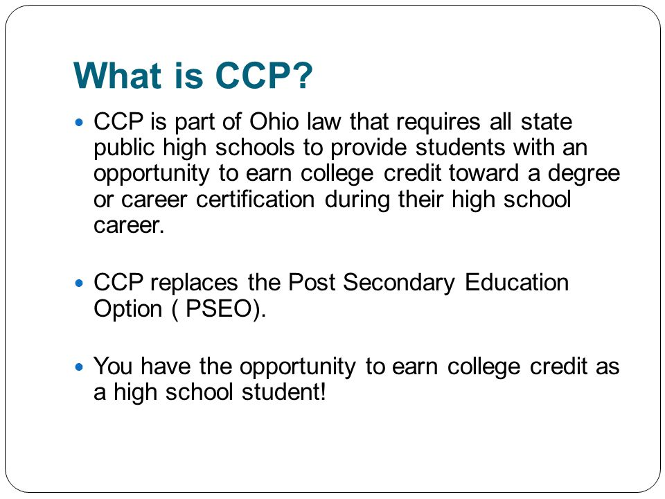 What is CCP.
