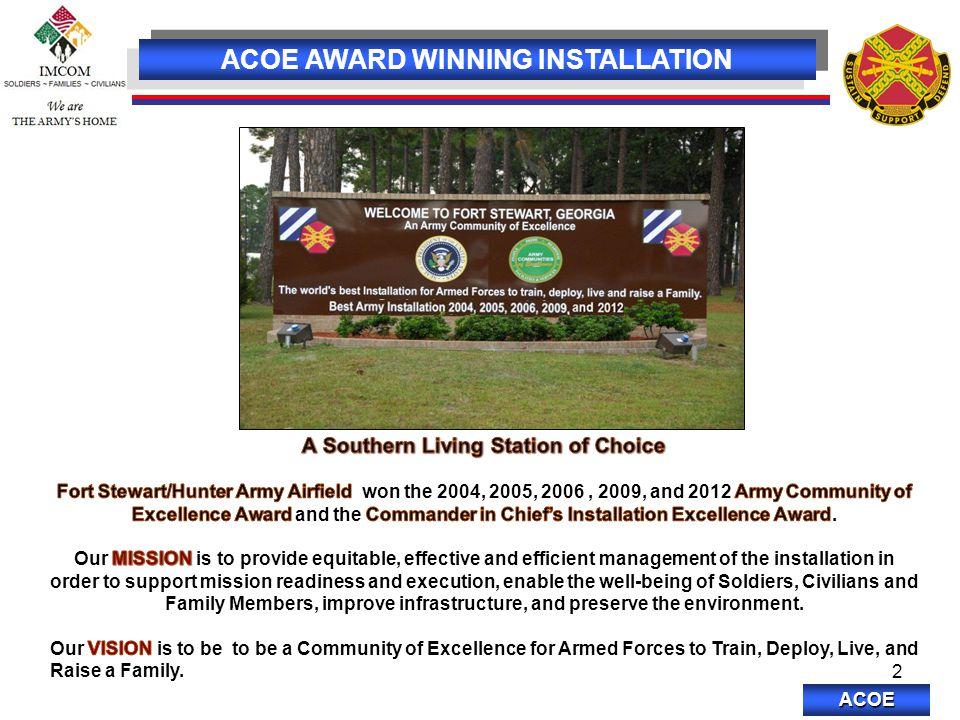 ACOE 2 ACOE AWARD WINNING INSTALLATION