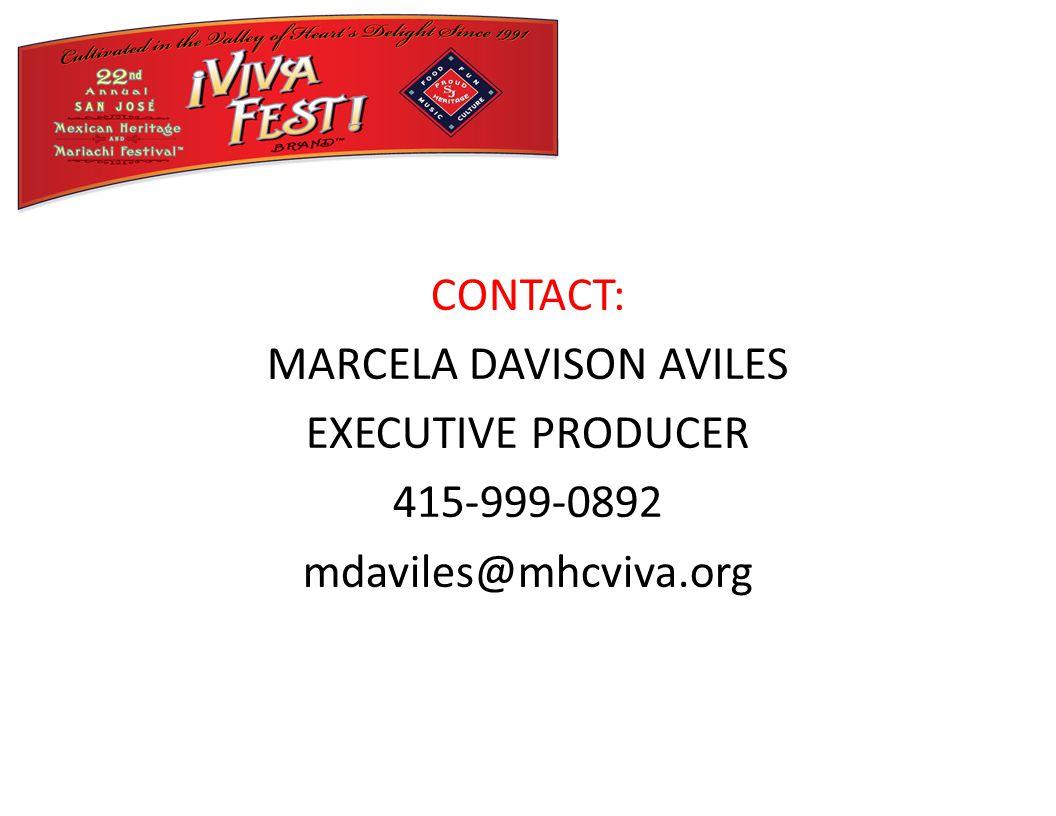 CONTACT: MARCELA DAVISON AVILES EXECUTIVE PRODUCER 415-999-0892 mdaviles@mhcviva.org