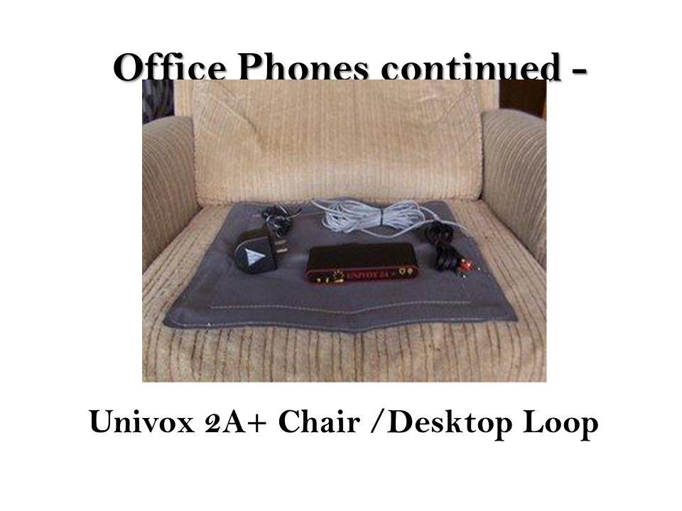 Office Phones continued - Univox 2A+ Chair /Desktop Loop