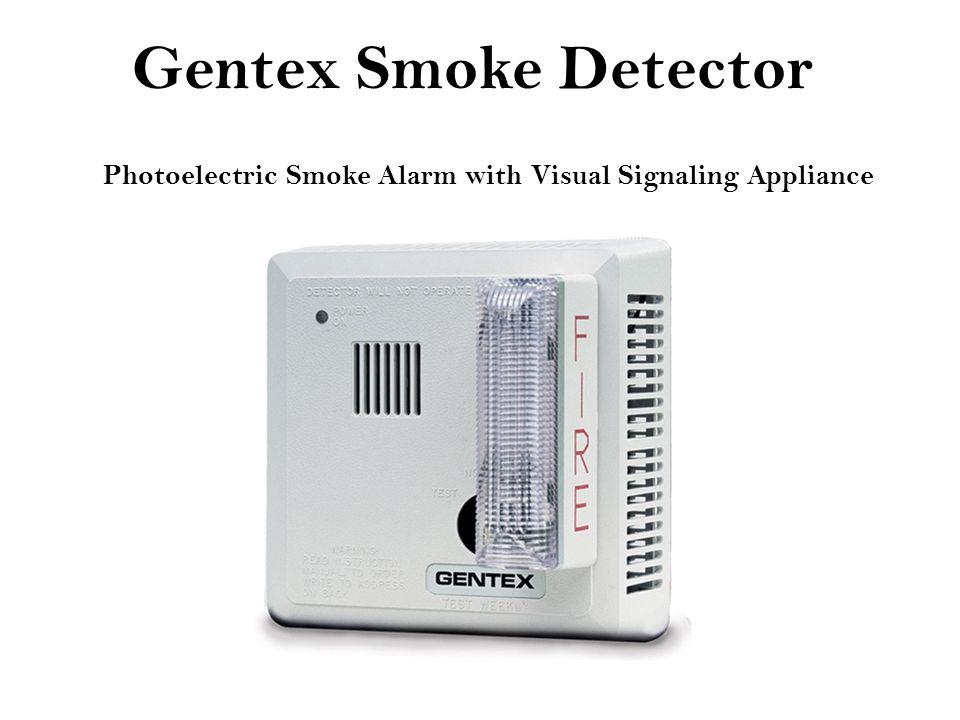 Gentex Smoke Detector Photoelectric Smoke Alarm with Visual Signaling Appliance
