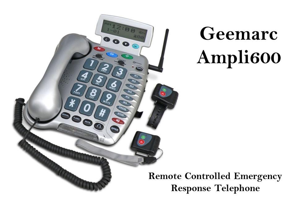 Geemarc Ampli600 Remote Controlled Emergency Response Telephone