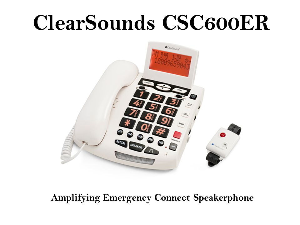 ClearSounds CSC600ER Amplifying Emergency Connect Speakerphone