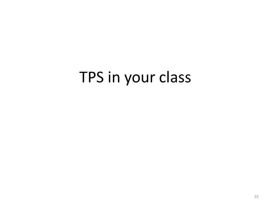 TPS in your class 35