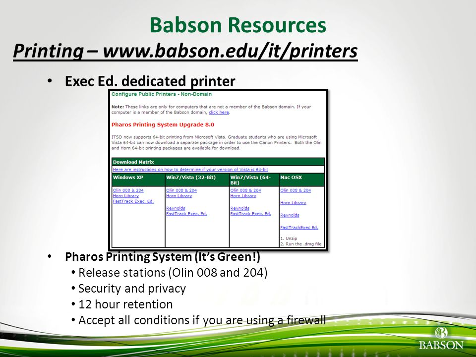 © 2010 Babson College Email Options/Configuration Webmail – mail.babson.edu (no config.