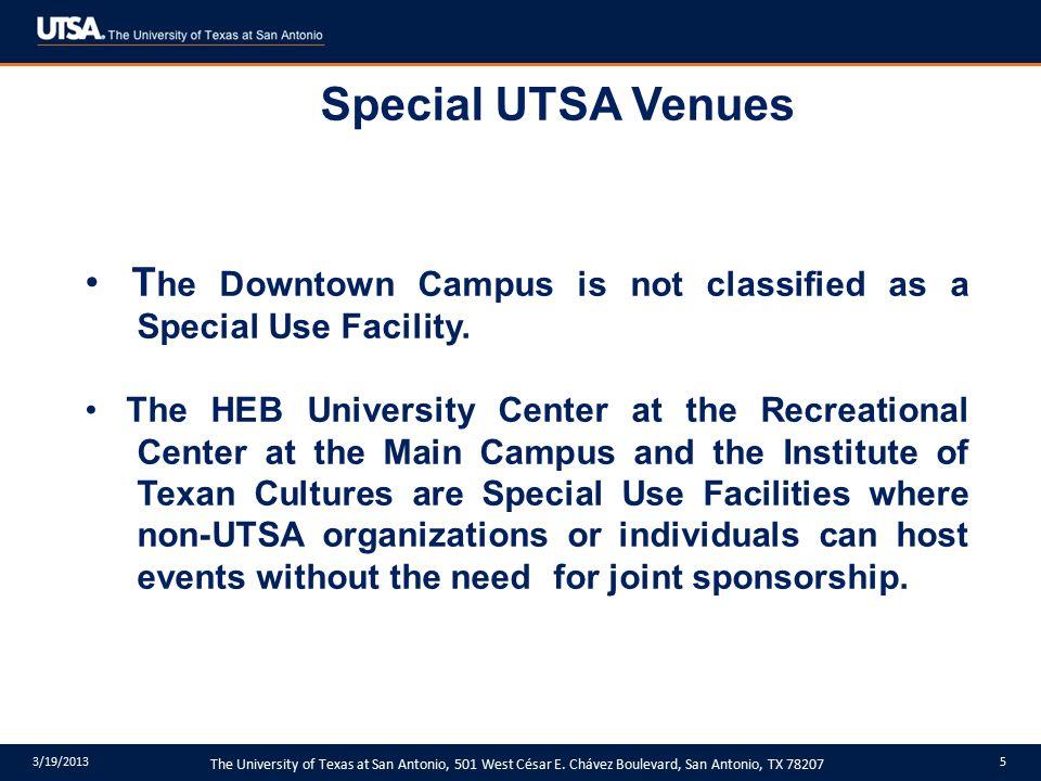 The University of Texas at San Antonio, 501 West César E.