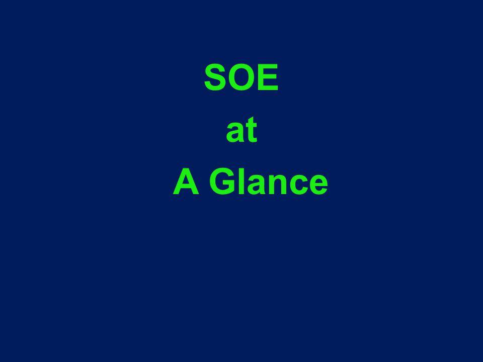 SOE at A Glance