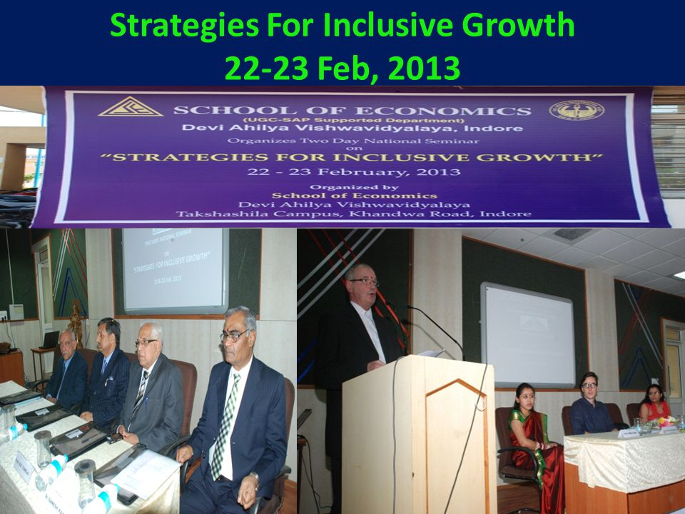 Strategies For Inclusive Growth 22-23 Feb, 2013
