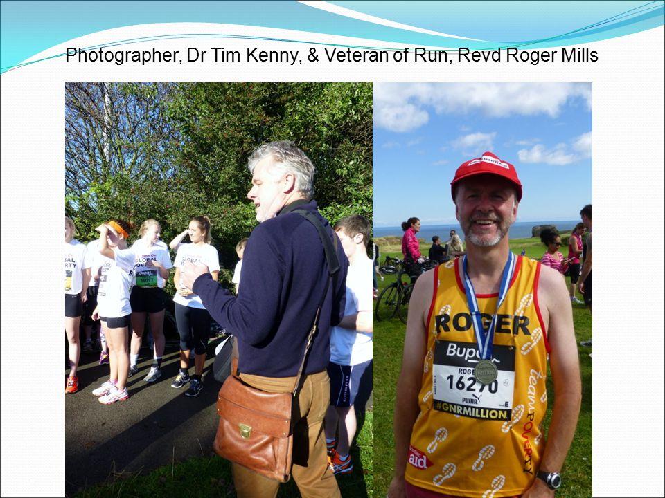 Photographer, Dr Tim Kenny, & Veteran of Run, Revd Roger Mills