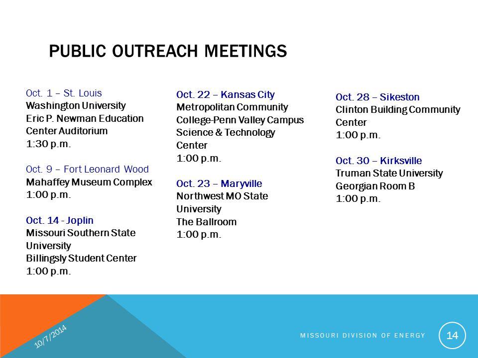 Oct.1 – St. Louis Washington University Eric P. Newman Education Center Auditorium 1:30 p.m.