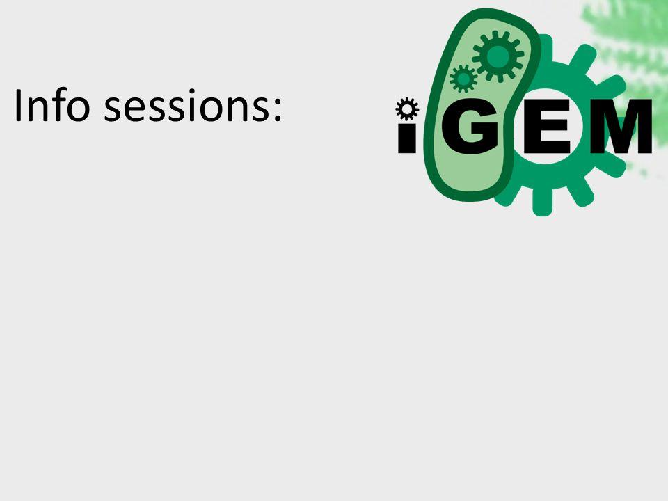 Info sessions: October 24 th 19:00 Auditorium Jozef Heuts Landbouwinstituut October 25 th 19:00 Auditorium BMW3 GHB O&N II