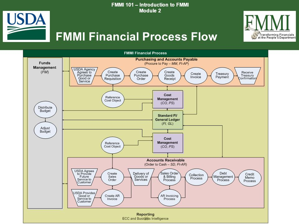 Transforming Financials at the People's Department 29 FMMI Financial Process Flow FMMI 101 – Introduction to FMMI Module 2