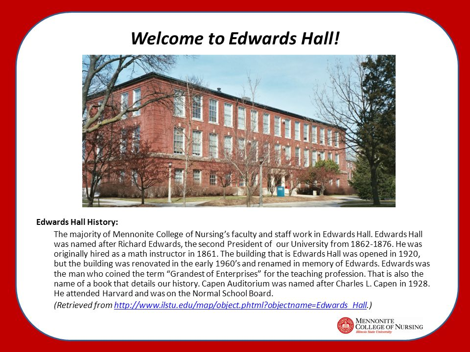 Welcome to Edwards Hall.