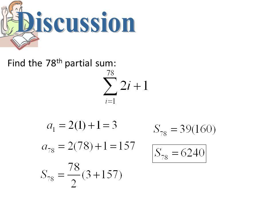Evaluate the sum: