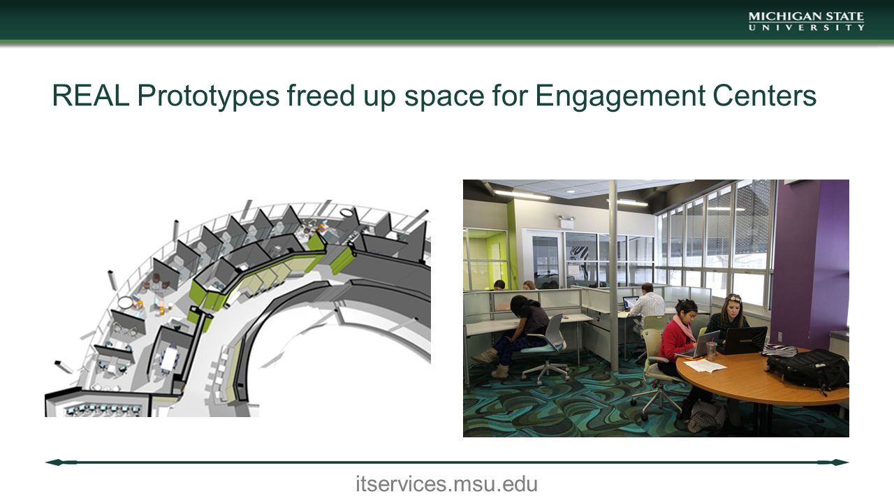 itservices.msu.edu REAL Prototypes freed up space for Engagement Centers