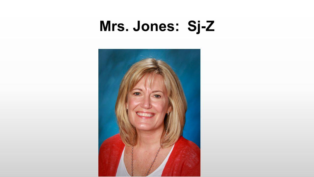 Mrs. Jones: Sj-Z
