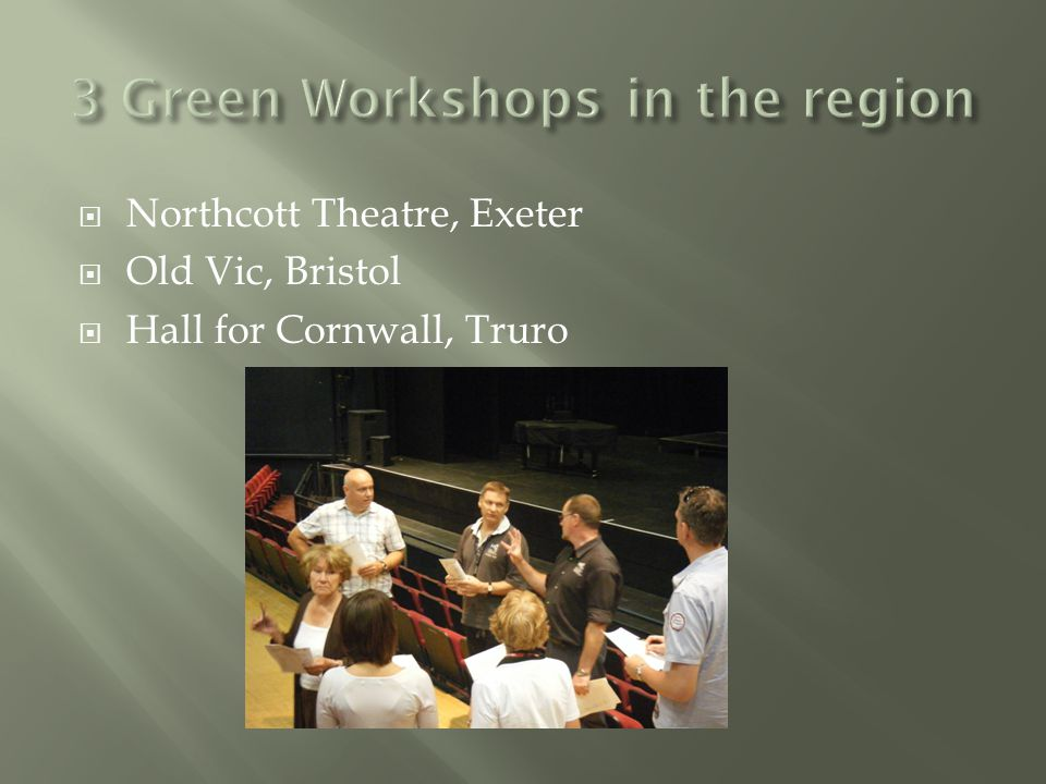  Northcott Theatre, Exeter  Old Vic, Bristol  Hall for Cornwall, Truro