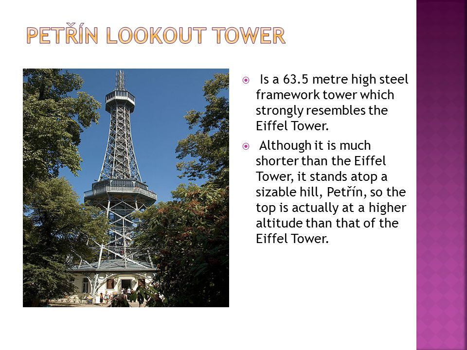  Is a 63.5 metre high steel framework tower which strongly resembles the Eiffel Tower.