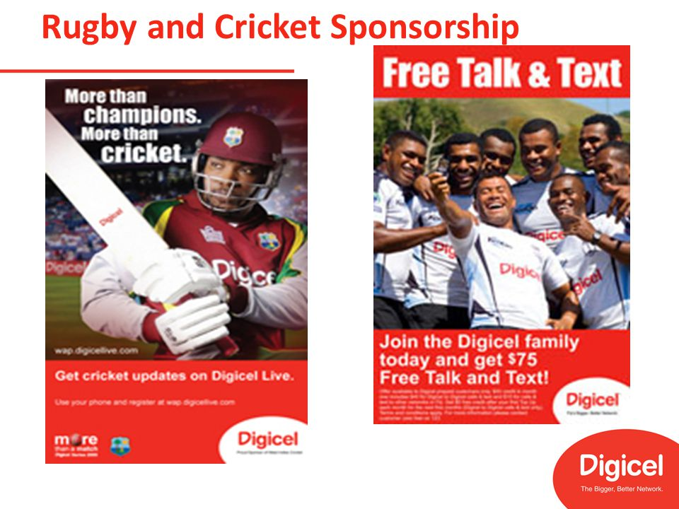 Rugby and Cricket Sponsorship