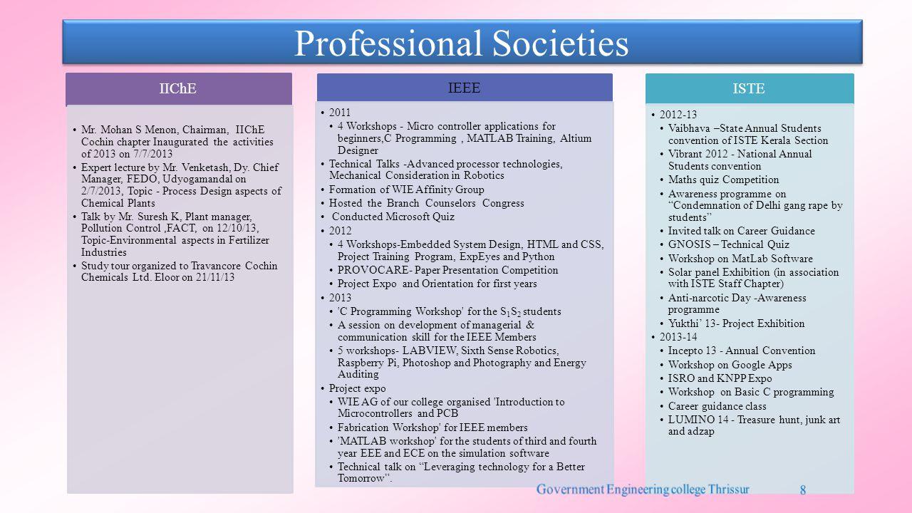 Professional Societies IIChE Mr.