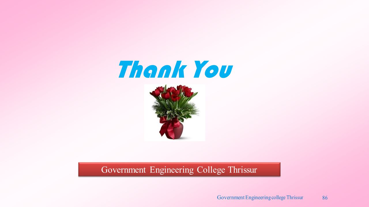 Thank You Government Engineering College Thrissur