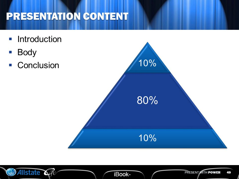 PRESENT WITH POWER BALANCE CONTENT & RETENTION  Which key points would you want attendees to retain.