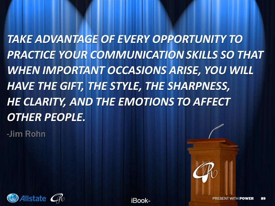 PRESENT WITH POWER ATTITUDE  Audiences will mirror your attitude.